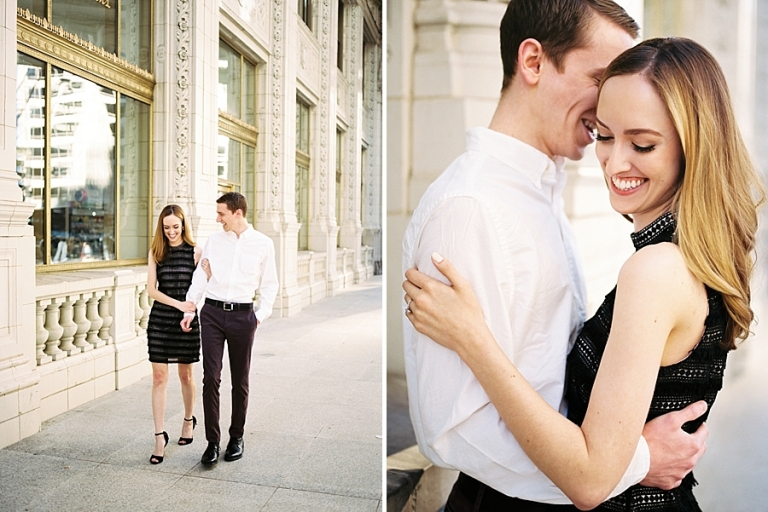 Engagement Photos at Wrigley Building Chicago
