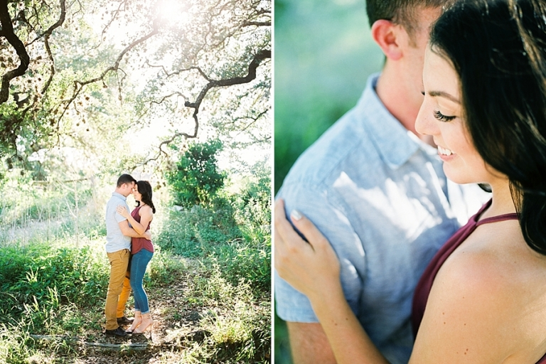 bull creek austin engagement session