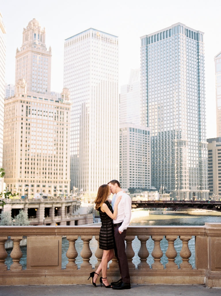 Engagement Photos Michigan Ave Chicago River